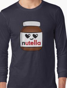 Nutella face 5 Long Sleeve T-Shirt