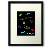Game Dev - Tetris (black version) Framed Print
