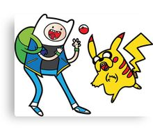 Pokemon Adventure Time Canvas Print