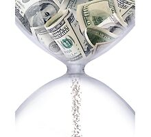 iPHONE TIME IS MONEY CASE by buniquedesignz