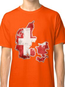 Denmark Flag Map Classic T-Shirt