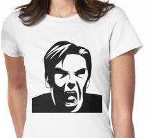 KHAN - NOOOOOOOO [Black] Womens Fitted T-Shirt