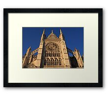 Cathedral In Evening Light Framed Print