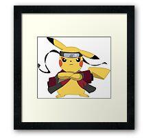 Pikachu Naruto Framed Print