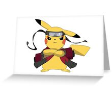 Pikachu Naruto Greeting Card
