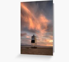 Burnham-on-sea wooden Lighthouse Greeting Card