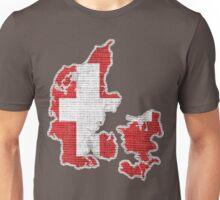 Denmark Flag Map Unisex T-Shirt
