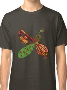 peacock in sitar kalamkari green Classic T-Shirt