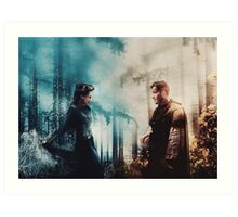 Outlaw Queen - The fire to her ice Art Print