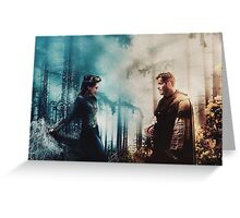 Outlaw Queen - The fire to her ice Greeting Card