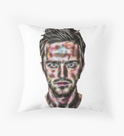 Abstract Jesse Pinkman Throw Pillow