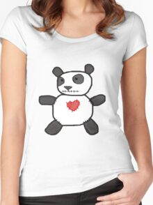 my creepy panda doll Women's Fitted Scoop T-Shirt