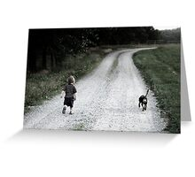 A Long Road Ahead Greeting Card