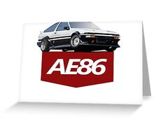 TOYOTA AE86 Greeting Card