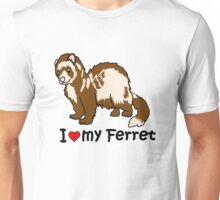 I Heart My Ferret Unisex T-Shirt