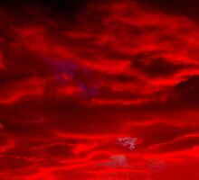 The sky is Burning!!! THE SKY IS BURNING !!!! by Larry Llewellyn