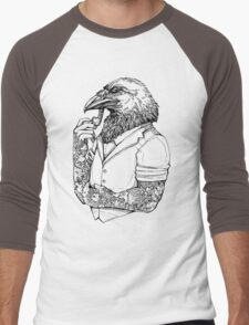 The Crow Man Men's Baseball ¾ T-Shirt
