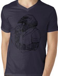The Crow Man Mens V-Neck T-Shirt