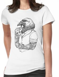 The Crow Man Womens Fitted T-Shirt