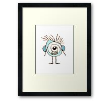 Cute Weird Caricature Illustration Framed Print