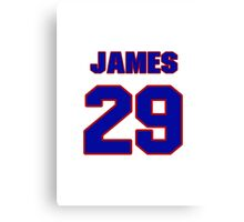 National baseball player James Loney jersey 29 Canvas Print
