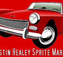 Austin Healey Sprite Mark II red by car2oonz