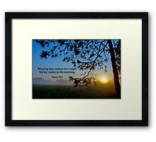 Weeping . . . Framed Print