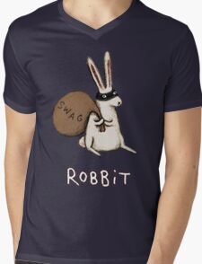 Robbit Mens V-Neck T-Shirt