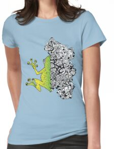 Psychedelly Frog Womens Fitted T-Shirt