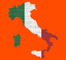 Italy Flag Map Kids Clothes