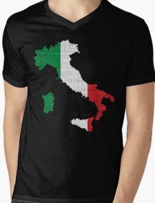 Italy Flag Map Mens V-Neck T-Shirt