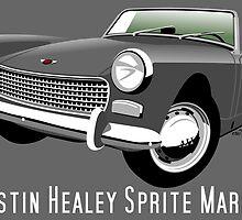Austin Healey Sprite Mark II grey by car2oonz