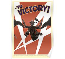 To victory! Poster