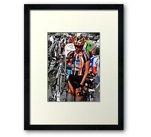 Beautiful Italian Cyclist Framed Print