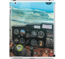 Pilot flying a Cessna plane  iPad Case/Skin