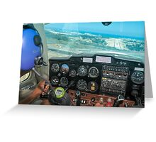 Pilot flying a Cessna plane  Greeting Card