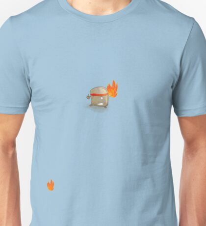 Toast Ninja - Flaming Fists?  Unisex T-Shirt