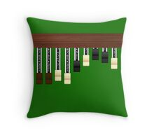 Drawbars Throw Pillow