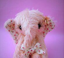 Pinkie Elephant - Handmade bears from Teddy Bear Orphans by Penny Bonser