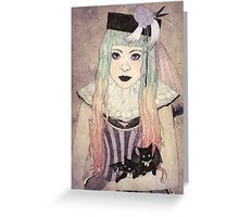 Pastel Goth Princess Greeting Card