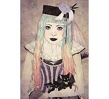 Pastel Goth Princess Photographic Print