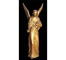 Golden gilt metal statuette of an angel Photographic Print