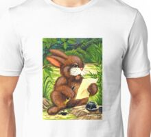 RABBIT WRITING LETTER Unisex T-Shirt