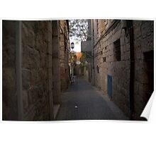 Small alley in Jerusalem center Poster