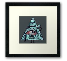 Illuminati are Baked Framed Print