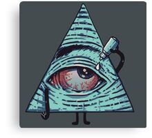 Illuminati are Baked Canvas Print