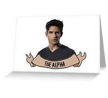 The Alpha. Greeting Card
