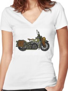'42' WLA in colour  Women's Fitted V-Neck T-Shirt