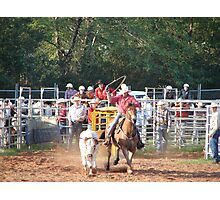Rodeo Roping Photographic Print