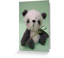 'Meiko' the Panda - Handmade bears from Teddy Bear Orphans Greeting Card